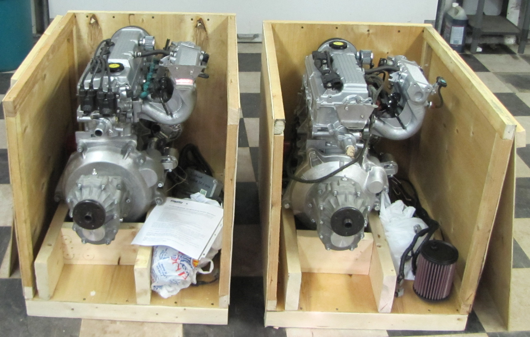These are 2 engines - G13BB and G16B crated and ready go. They are very  simular, the same 16 valve SONS head, oil and cooling system.
