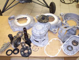 Gearbox disassembled